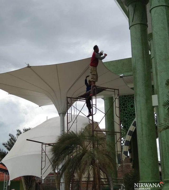 pemasangan canopy membrane